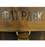 THE RAT PACK  ROCK  2 vaks heren werktas laptoptas 17 inch bruin
