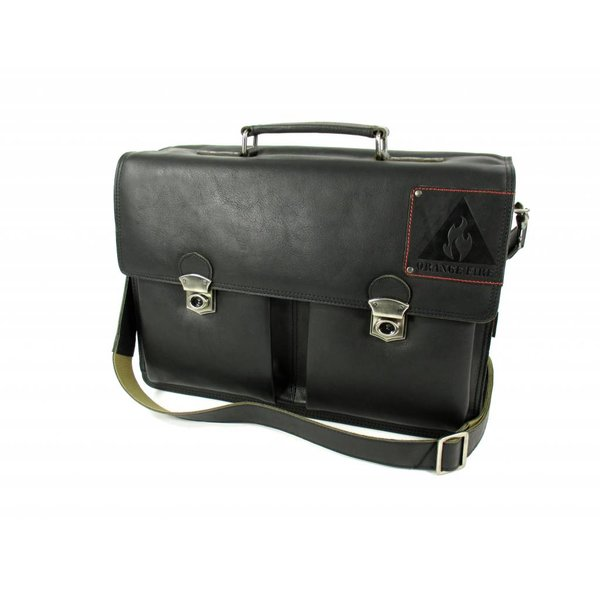 "Leren business tas laptoptas OLD SKOOL 15,6"" zwart"