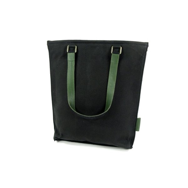 Damestas shopper Retiro Waxed Canvas Black – D Groen