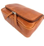 Chesterfield Leren toilettas GILLIAN Wax pull up leather Cognac