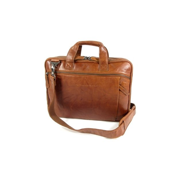 zakentas laptoptas Manuel antiek buf leather cognac