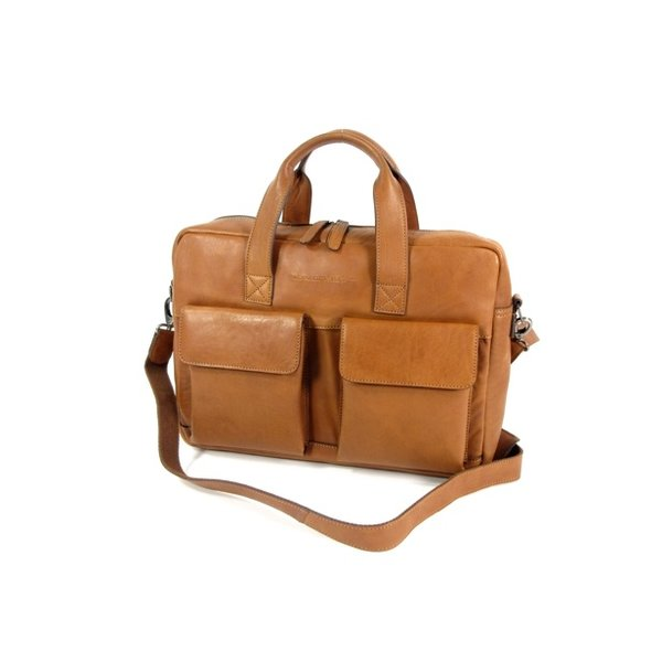 1 vaks 15,6 inch laptop business herentas ETHAN Soft Class cognac