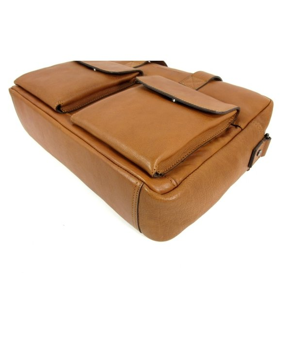 Chesterfield 1 vaks 15,6 inch laptop business herentas ETHAN Soft Class cognac