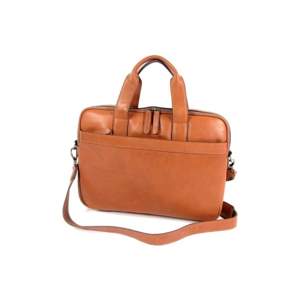 2 vaks 15,6 inch laptop business herentas DUKE Soft Class cognac
