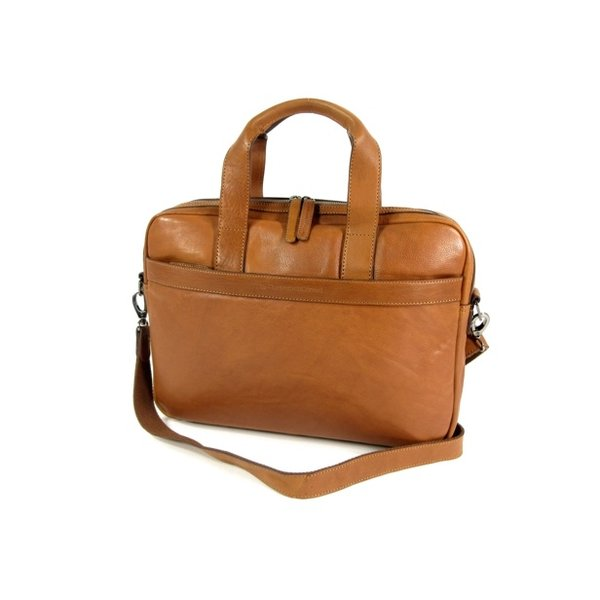 1 vaks 15,6 inch laptop business herentas DEAN Soft Class cognac