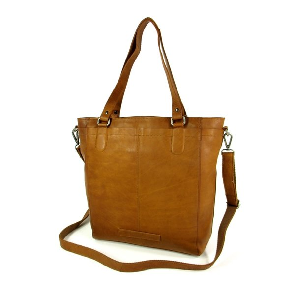 Shopper JADE Waxed Pull Up Hoog model Cognac