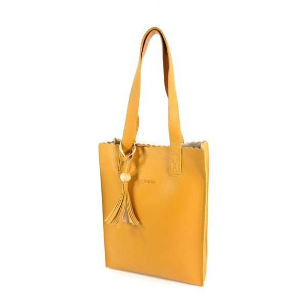 PU Convent Garden dames Hoog model shopper oker