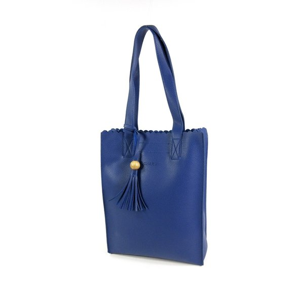 PU Convent Garden dames Hoog model shopper D Blauw