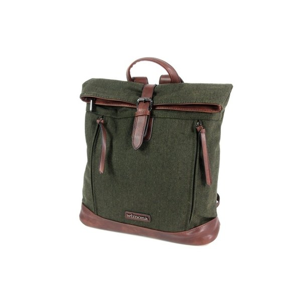 PU dames rugzak backpack BOLONIA canvas look green