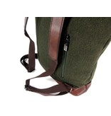 Wimona PU dames rugzak backpack BOLONIA canvas look green