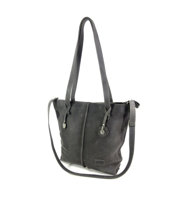 SoDutch Handgemaakte leren Shopper TULP #01 Night grey