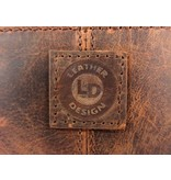 LEATHER DESIGN Hunter damestas schoudertas kleptas bruin