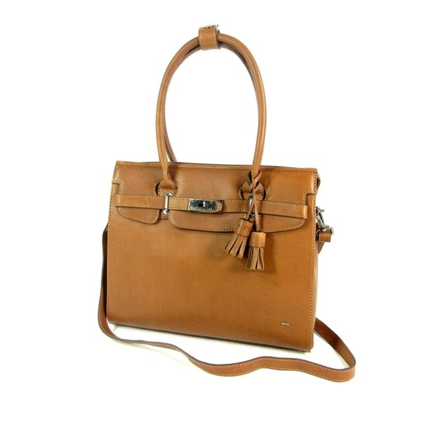 DEXTER damestas schoudertas business tas cognac