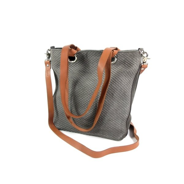 STRETTO Damestas shopper schoudertas Dusty grey