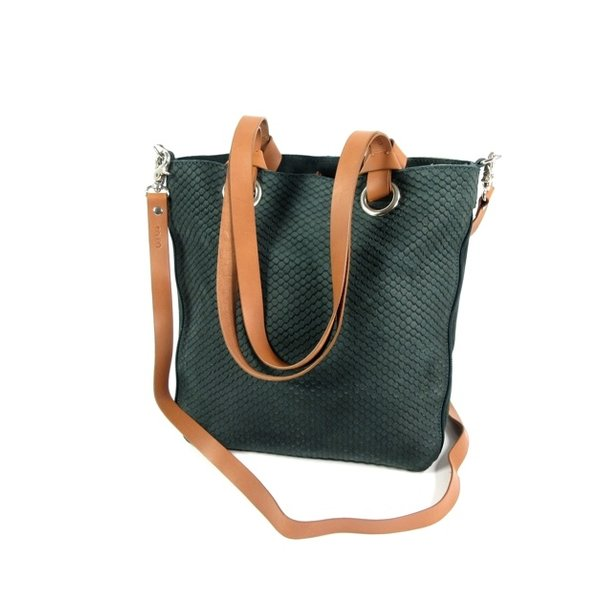 STRETTO Damestas shopper schoudertas Bottle green