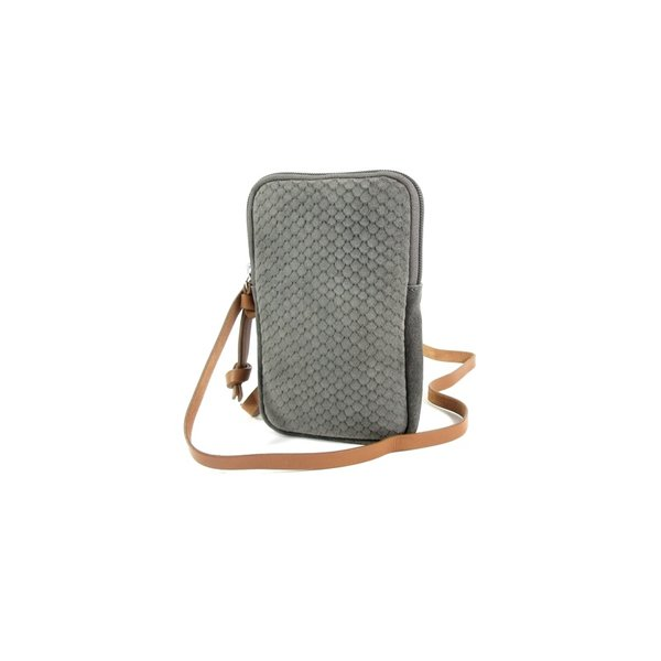 STRETTO telefoon schoudertasje portemonnee Dusty grey
