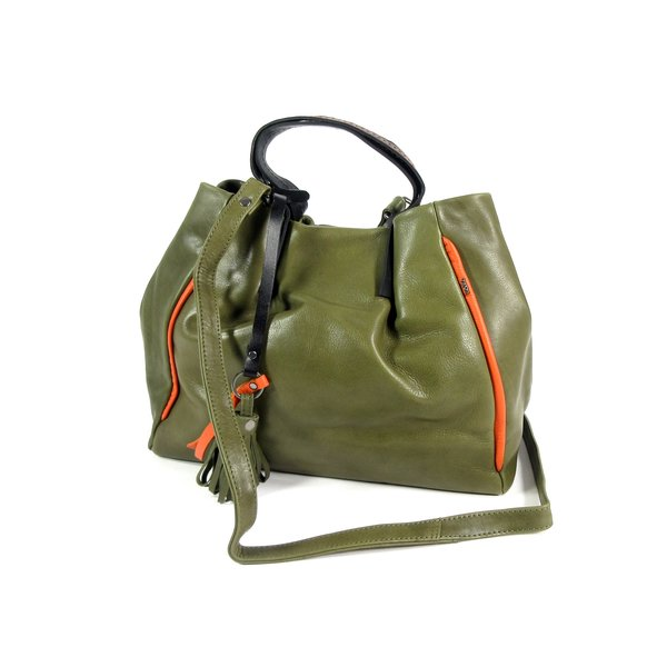 NOVOLUX damestas handtas schoudertas olive-orange