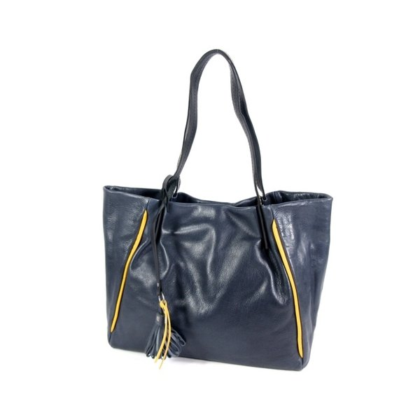 NOVOLUX handtas schoudertas damestas Navy-yellow
