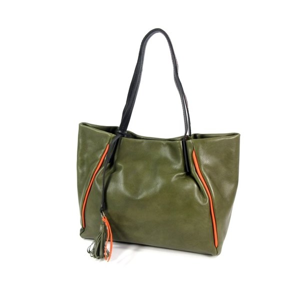 NOVOLUX handtas schoudertas damestas olive-orange
