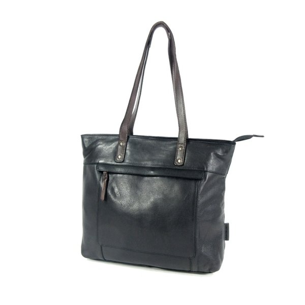 HIGHLAND PARK dames tas shopper zwart