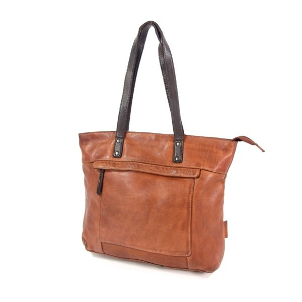 HIGHLAND PARK dames tas shopper cognac