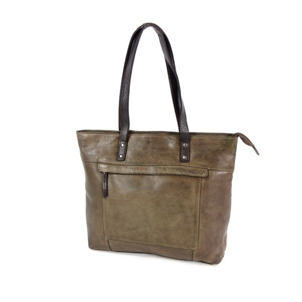 HIGHLAND PARK dames tas shopper olive
