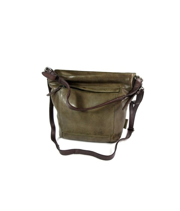 Micmacbags HIGHLAND PARK trendy dames schoudertas olive