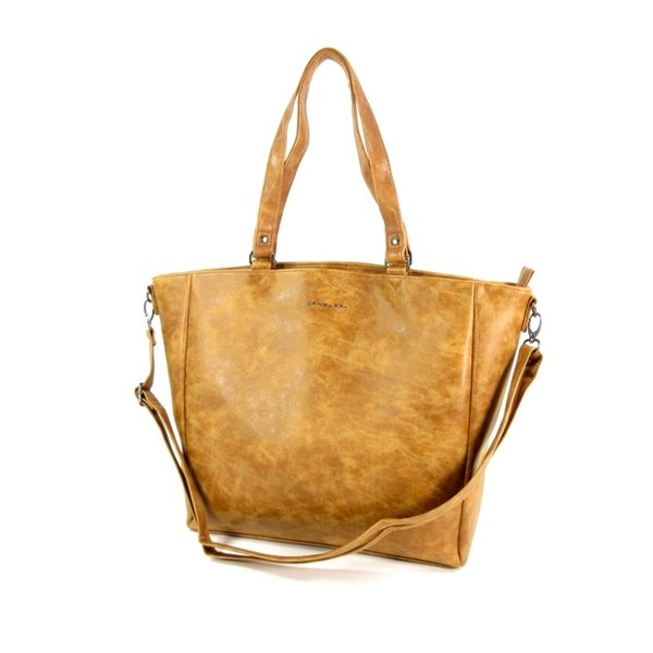 Trendy shopper dames tas schoudertas SUMTER Cognac