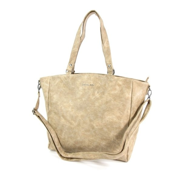 Trendy shopper dames tas schoudertas SUMTER beige