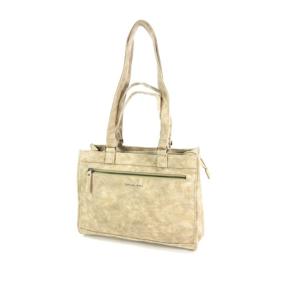 shopper schoudertas LAKE met laptopvak Beige