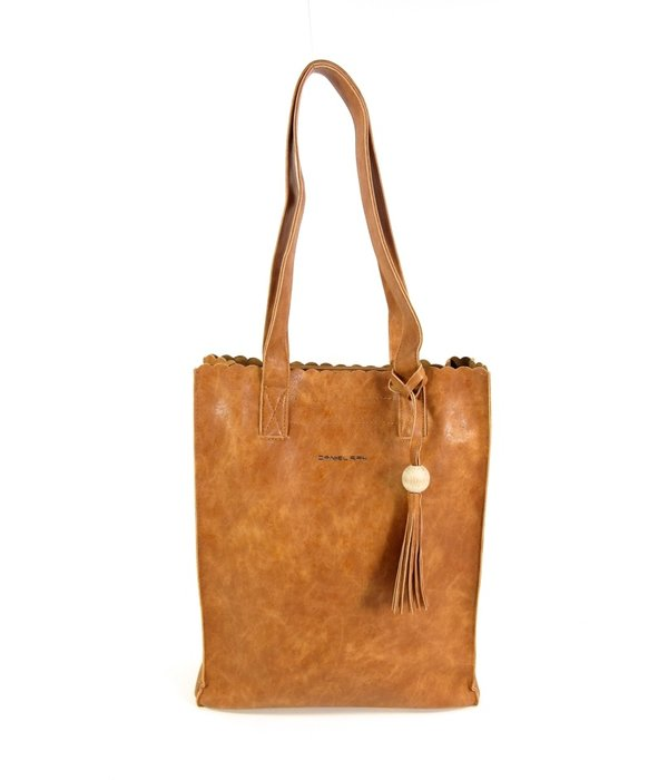 Daniel Ray Soepel PU hoog model shopper Miami cognac