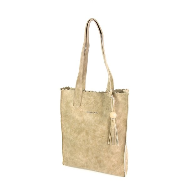 Soepel PU hoog model shopper Miami beige