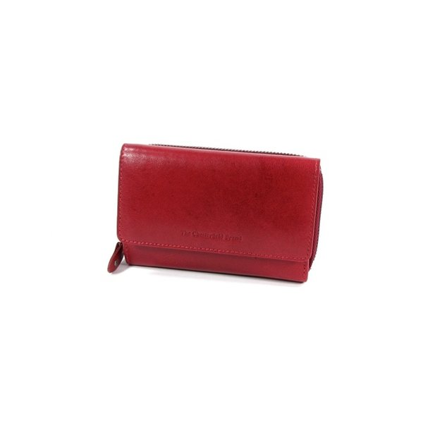 Dames portemonnee HAGEN Odean cow leather rood
