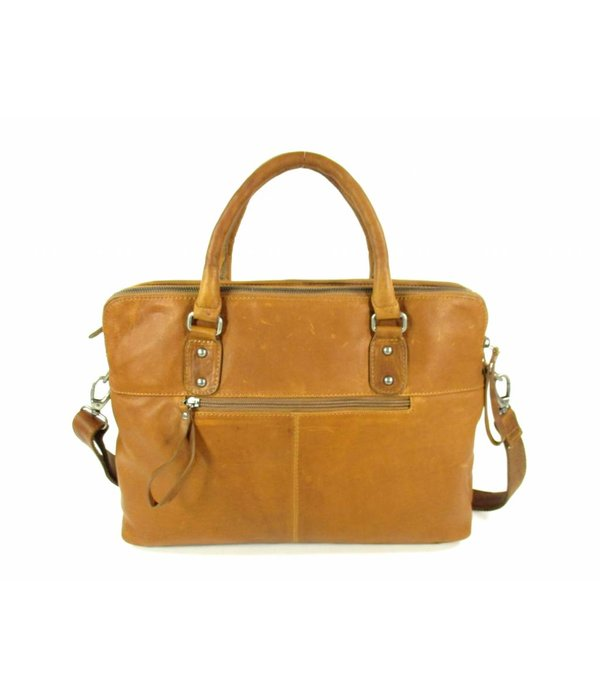 Chesterfield Documenten laptoptas MARIA Wax Pull Up Cognac