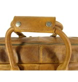 Chesterfield Westernbag William wax pull up leer Cognac