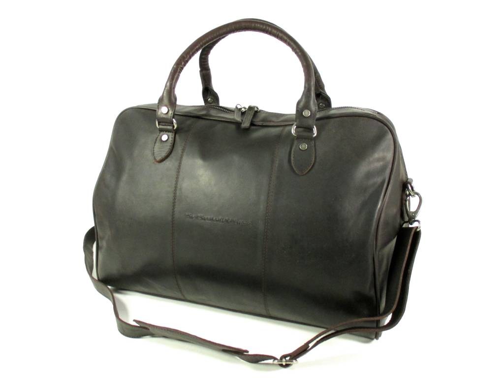 Image of Leren reistas weekendtas WILLIAM Wax pull up Bruin