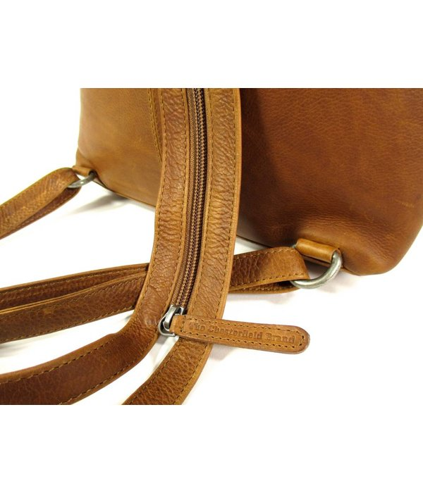 Chesterfield Leren back Pack Dames BATH Wax Pull up Cognac