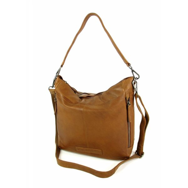 Damestas Shopper OLDHAMM wax pull up Cognac