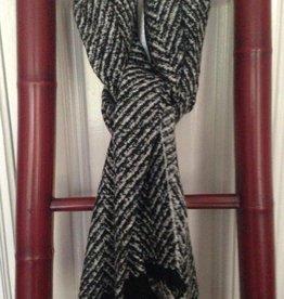 Sjaal Visgraat Zwart-Wit