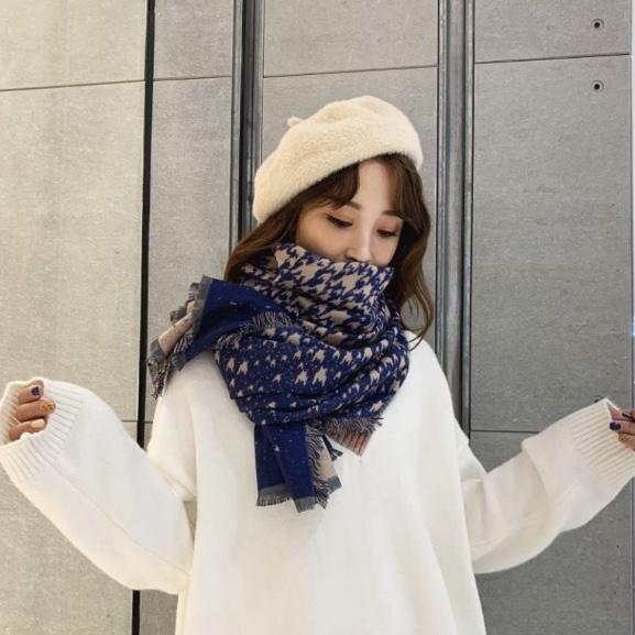 Sjaal Snowflakes Creme