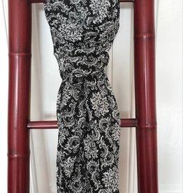 Grote Sjaal Zwart met Bloem