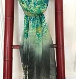 Zijden Sjaal Hangzhou Blauw, Lila en Groen