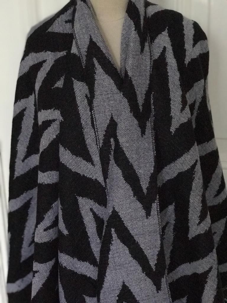 Poncho Zigzag Zwart