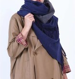 Sjaal Warm and Beautiful Dark Blue