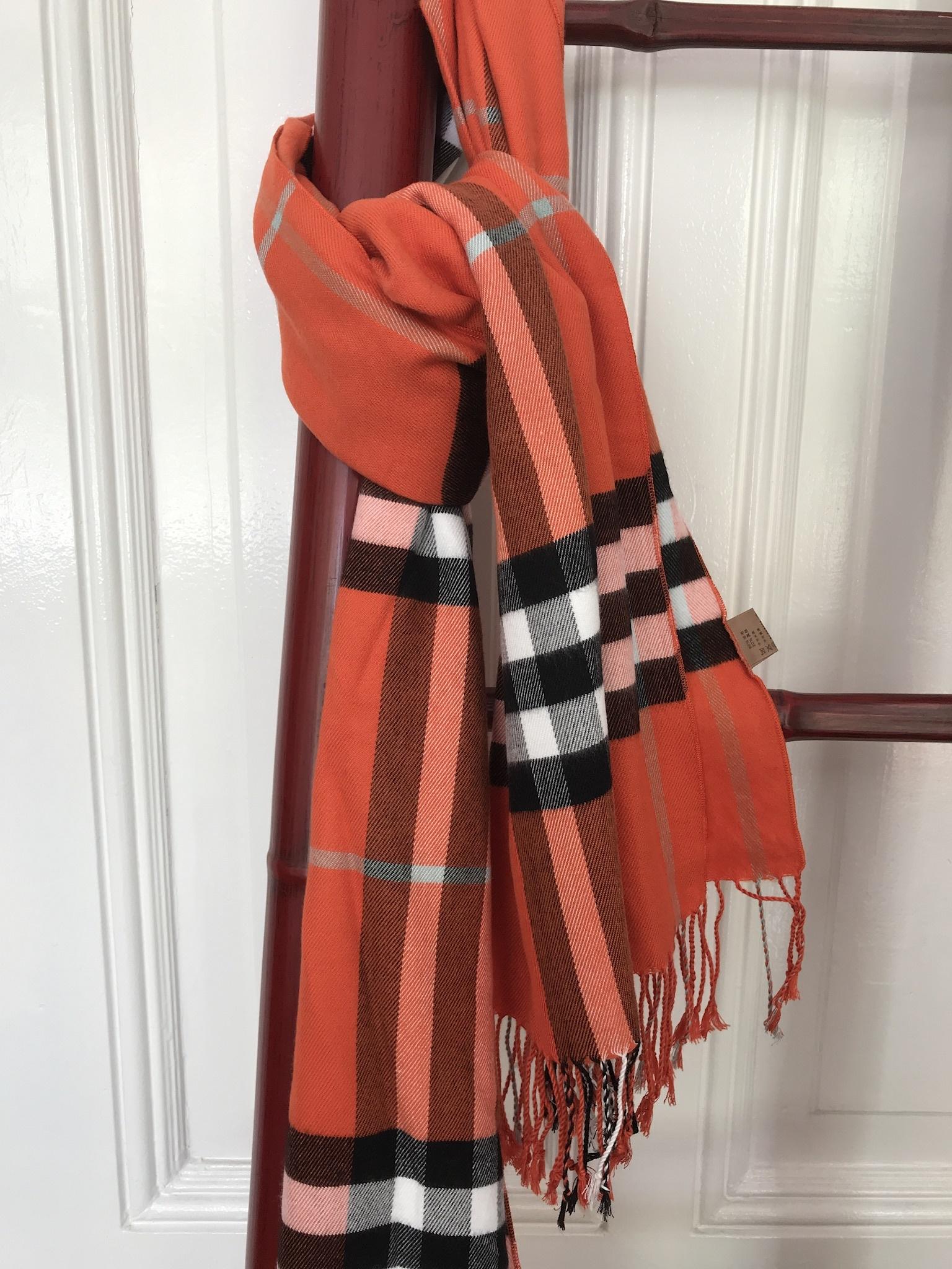 Klassieke Sjaal Groot Geruit Rood