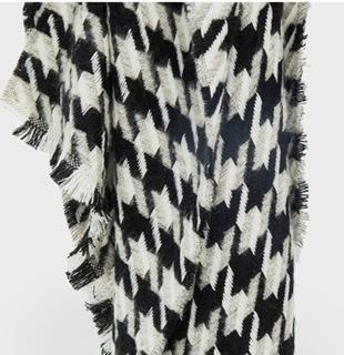 Sjaal Pied de Poule Zwart Wit
