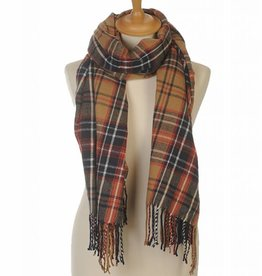 Sjaal Plaid Beige