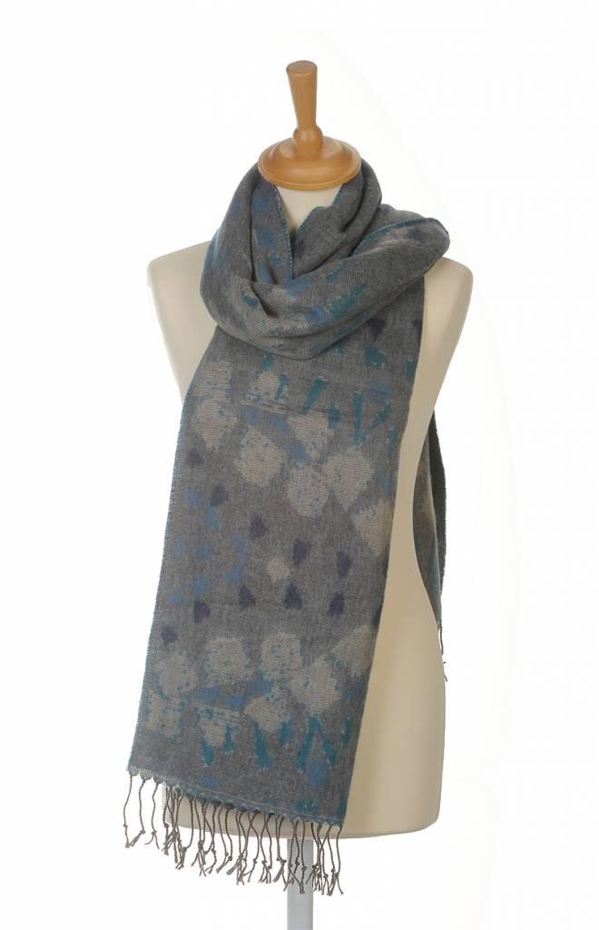 Omslagdoek Sjaal Print Blauw
