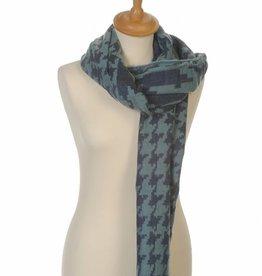 Omslagdoek Sjaal Abstract Blauw