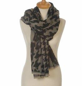 Omslagdoek Sjaal Abstract Zwart